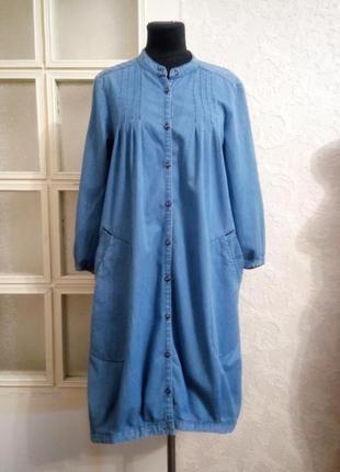 Платье рубашка джинсовое crosby, р. s