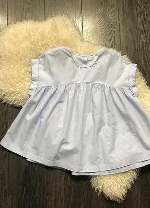 Голубая блуза zara