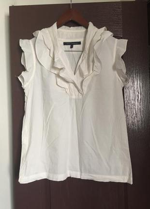Хлопковая блуза с рюшами