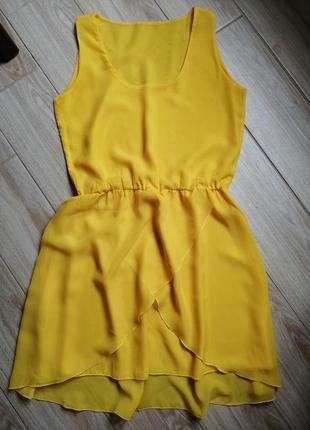 Ярко жёлтое платье
