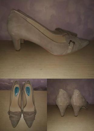 Лодочки туфли 42 р замшевые