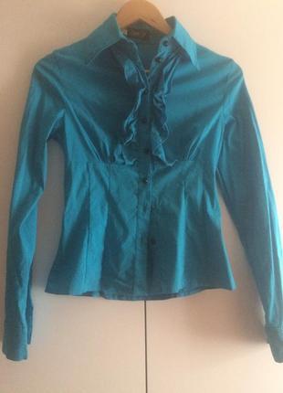 Блузка голубая, идеально для школы