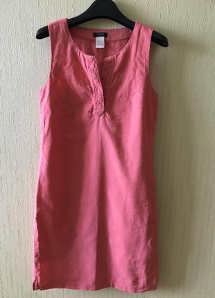 Лёгкое летнее платье лён коттон la redoute франция