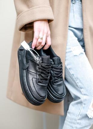 Nike air force jester black чёрные женские кроссовки наложенный платёж купить кросівки