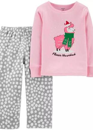 Пижама флис carter's теплая
