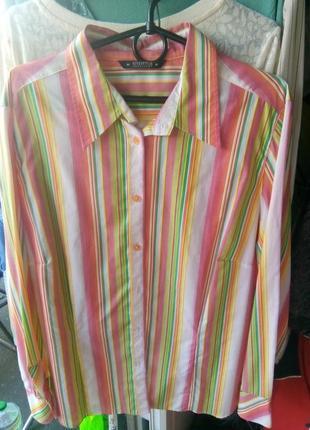 Рубашка летняя в яркие полосочки