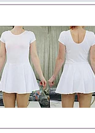 Купальник спортивный гимнастический с юбкой