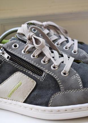 Кожаные+текстильные кроссовки туфли спортивные кеды слипоны р.43 28,5-29 см