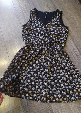 Платье цветочный принт cropp town