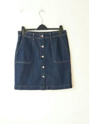 Джинсовая юбка на пуговках