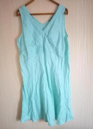 Льняное платье 54 размера