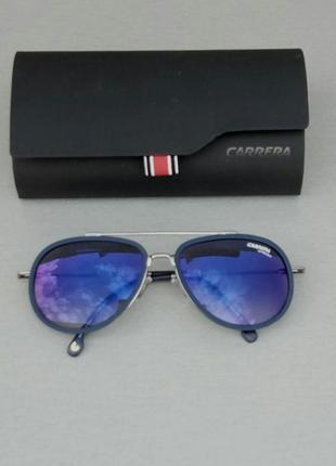 Carrera очки капли унисекс солнцезащитные синие линзы бензин зеркальные