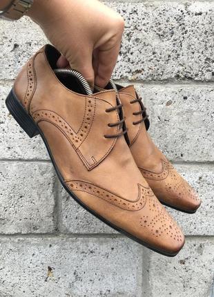 Кожаные туфли limehaus размер 43 (28 см)