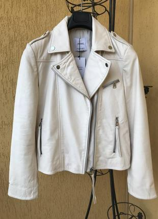 Куртка кожаная косуха mango новая размер м