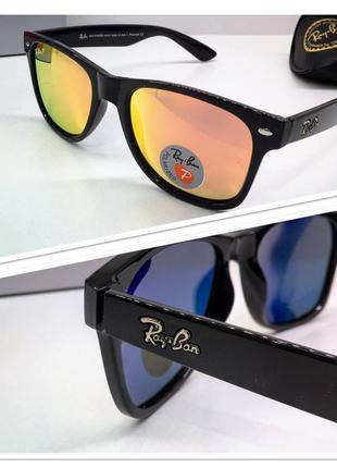Мужские солнцезащитные очки с поляризацией зеркальные линзы