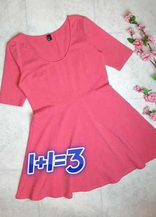 1+1=3 стильное яркое розовое трикотажное платье плаття h&m, размер