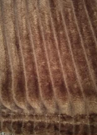 Плед коричневый 200х230