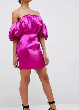 Розовое платья asos с воланами