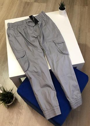 Хлопковые итальянские брюки легкие укороченные штаны бриджи