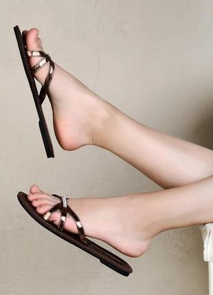 Вьетнамки (шлепанцы) женские коричневые anaya rox