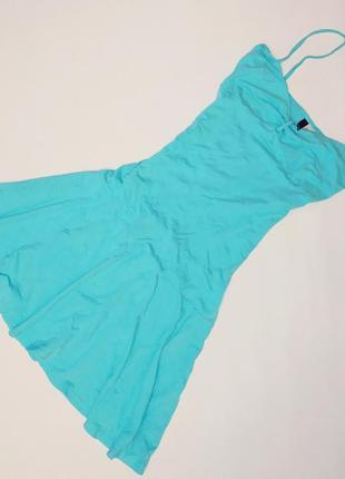 Легкое бирюзовое платье, вискоза