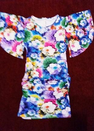 Очень красивое,яркое летнее платье