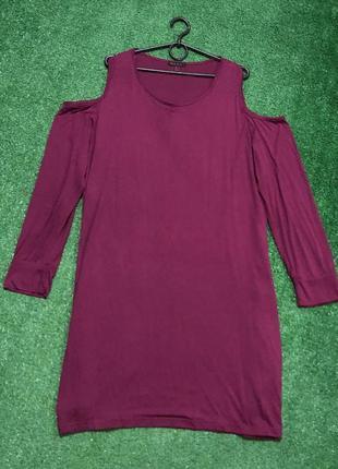 Крутое платье большого размера батал туника вискоза