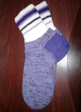 Теплые вязанные носки ручной работы
