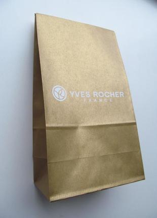 Пакет золотистый 19х35х10 см ив роше yves rocher