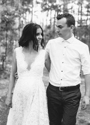 Кружевное свадебное платье от liliya baltina