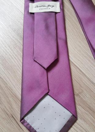 Фирменный галстук cristian berg, шелк.
