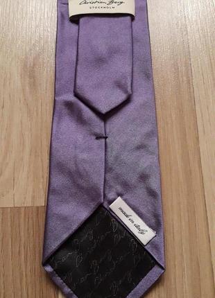 Фирменный шелковый галстук cristian berg.