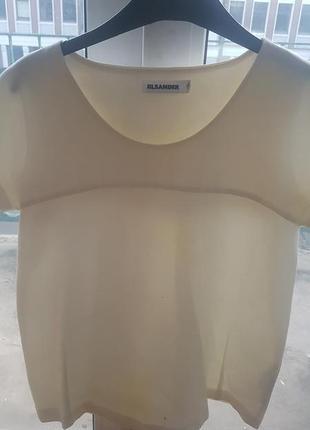 Jil sander белая блуза оверсайз
