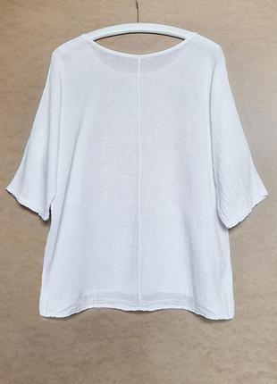 Белая пляжная рубашка