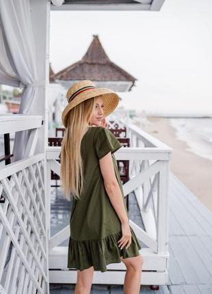 Платье миди на пуговицах3 фото