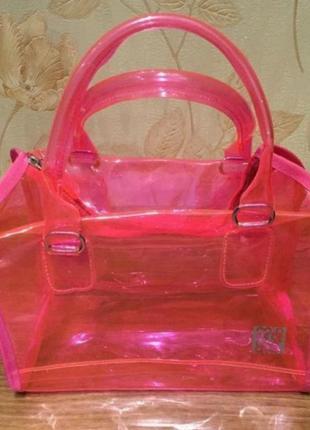 Прозрачная летняя сумка