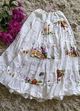 Милая пышная лёгкая юбка