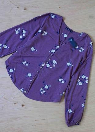 Новая легкая блузка abercrombie&fitch  в живую цвет ближе к коричневому