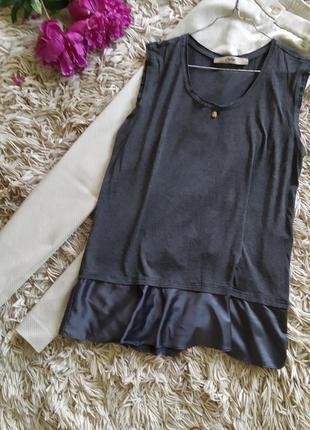 Оригинальная вискозная блуза с юбочкой