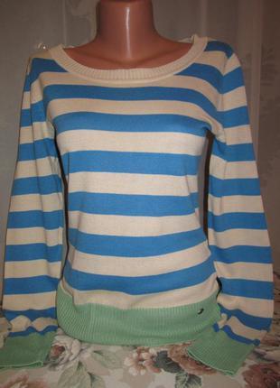 Свитер в полоску. свитер с заплатками, полосатый свитер/ ajc/