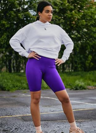 Шорты велосипедки женские фиолетовые