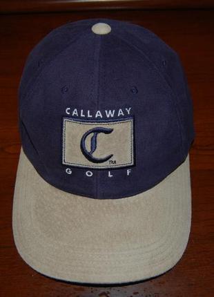 Коллекционная кепка- бейсболка callaway golf, оригинал, на окр. головы до 58 см.
