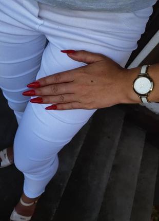 Белые брюки, лосины, штани