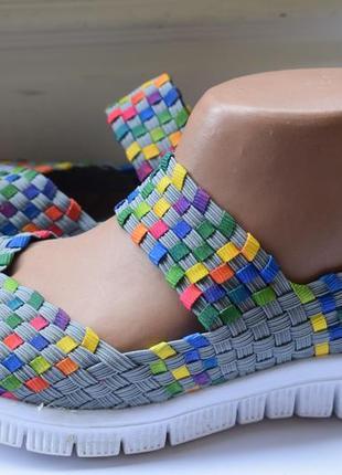 Туфли летние мокасины плетенка босоножки сандалии сандали р.38/39 24,8 см