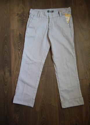 Брюки colin's новые с биркой, в тонкую синюю полоску, приятная ткань похожая на джинс