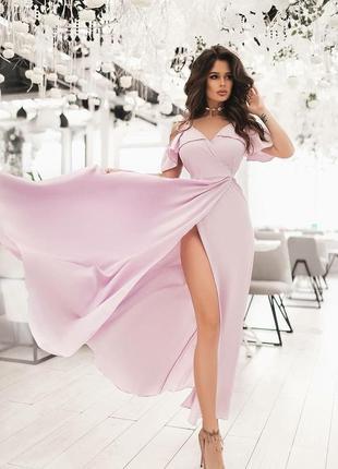 Лёгкое локоничное летнее платье в пол, лаванда