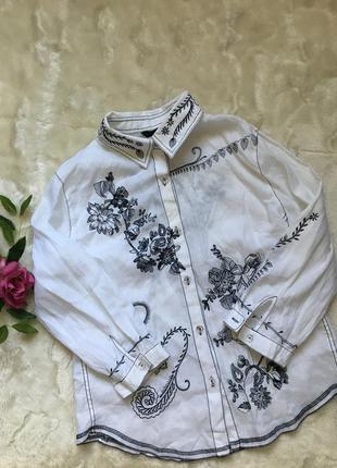 Красивая блуза рубашка лен