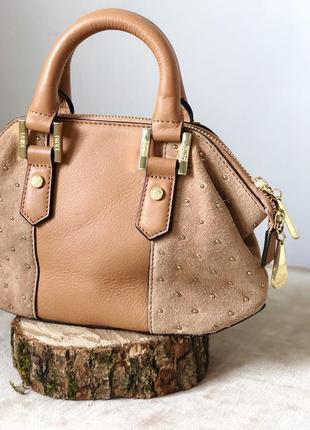 Эксклюзивная замшевая кожаная мини сумочка