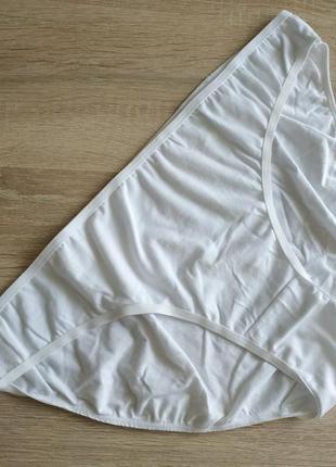 Новые белые трусики бикини большого размера хлопок