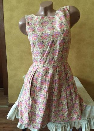 Милый сарафан в цветочки/ платье
